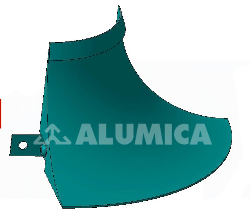 Наружный угол для заведения линолеума компании Alumica