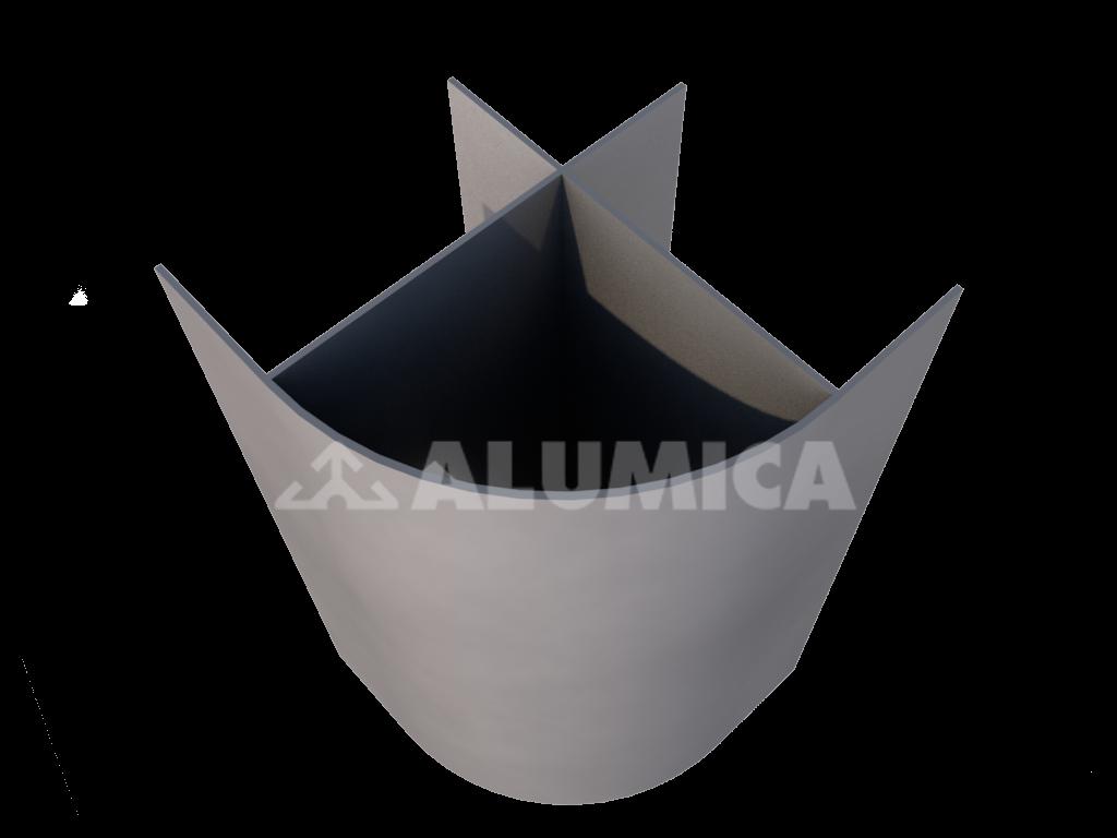 Профиль для наружного угла для сэндвич-панелей компании Alumica