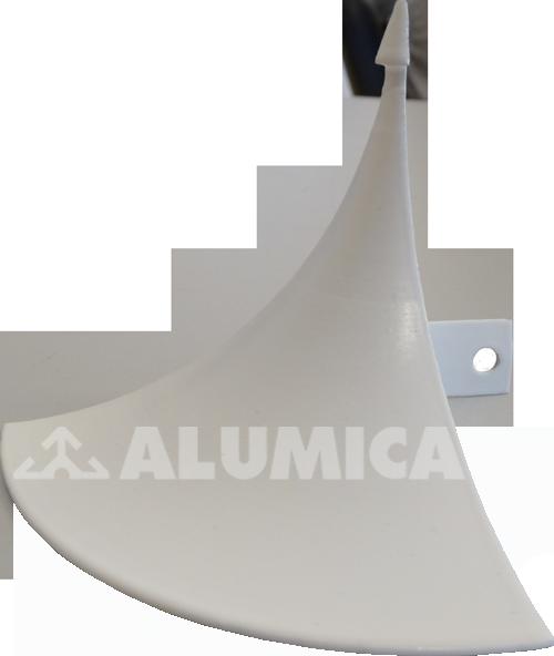 Заглушка Пика для заведения линолеума компании Alumica