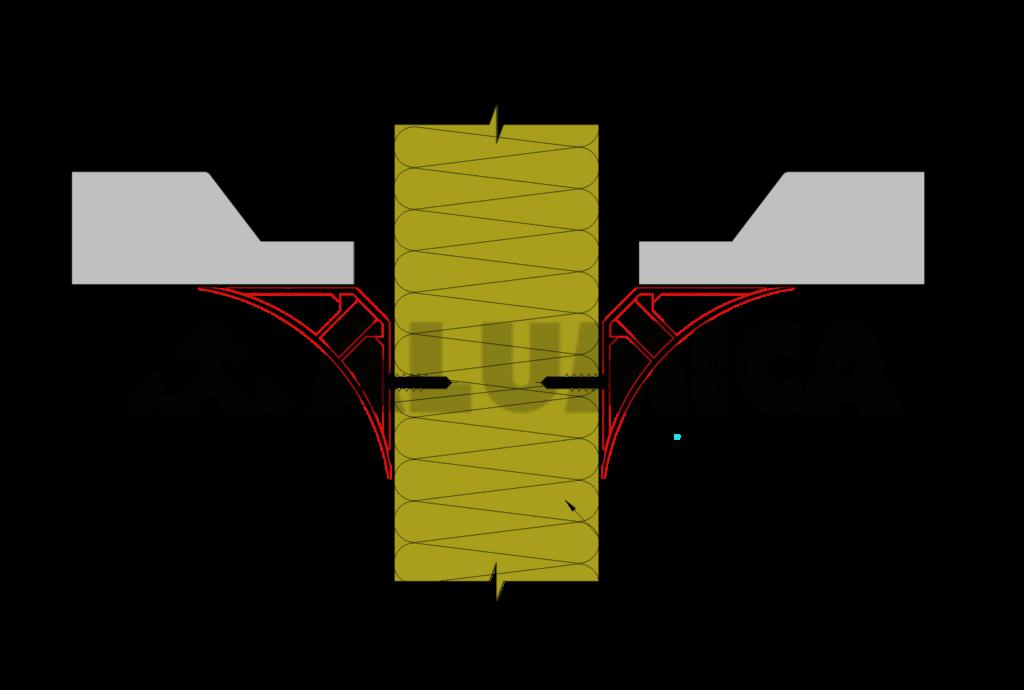 стена-потолок Alumica