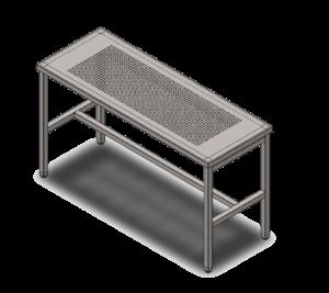 1-953 П1 Стол 1600х600х900 с перфорацией с выемкой для гранитной плиты 1220х420х60_4 без плиты_1