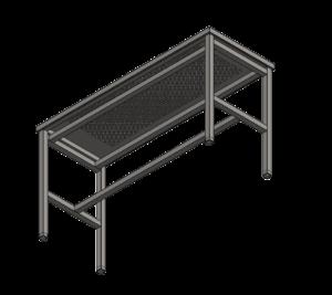 953 П1 Стол 1600х600х900 с перфорацией с выемкой для гранитной плиты 1220х420х60_4 без плиты_2