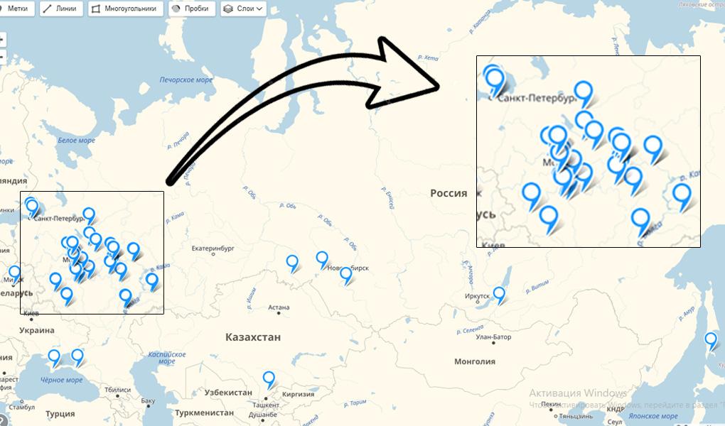 география поставок компании Алюмика